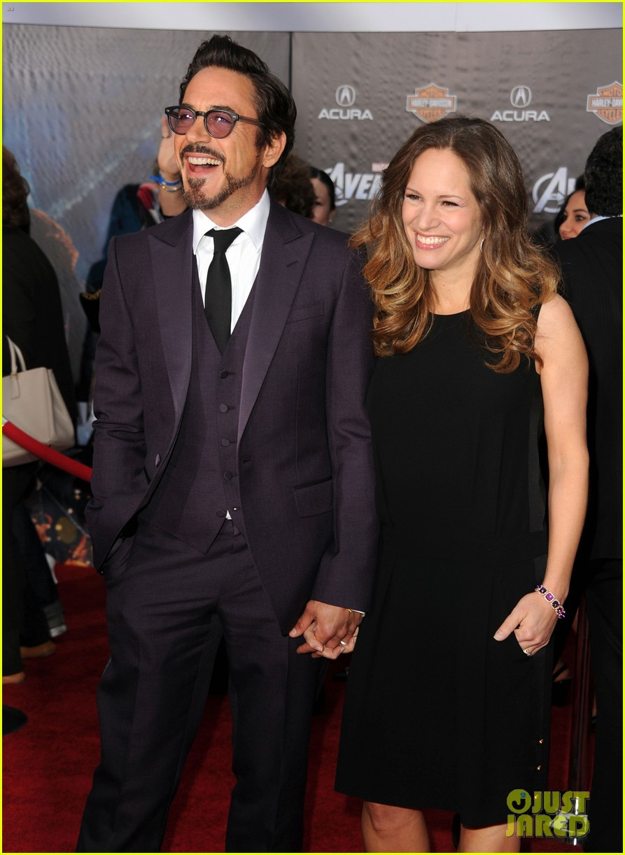 robert downey jr avengers premiere with wife susan 092647844