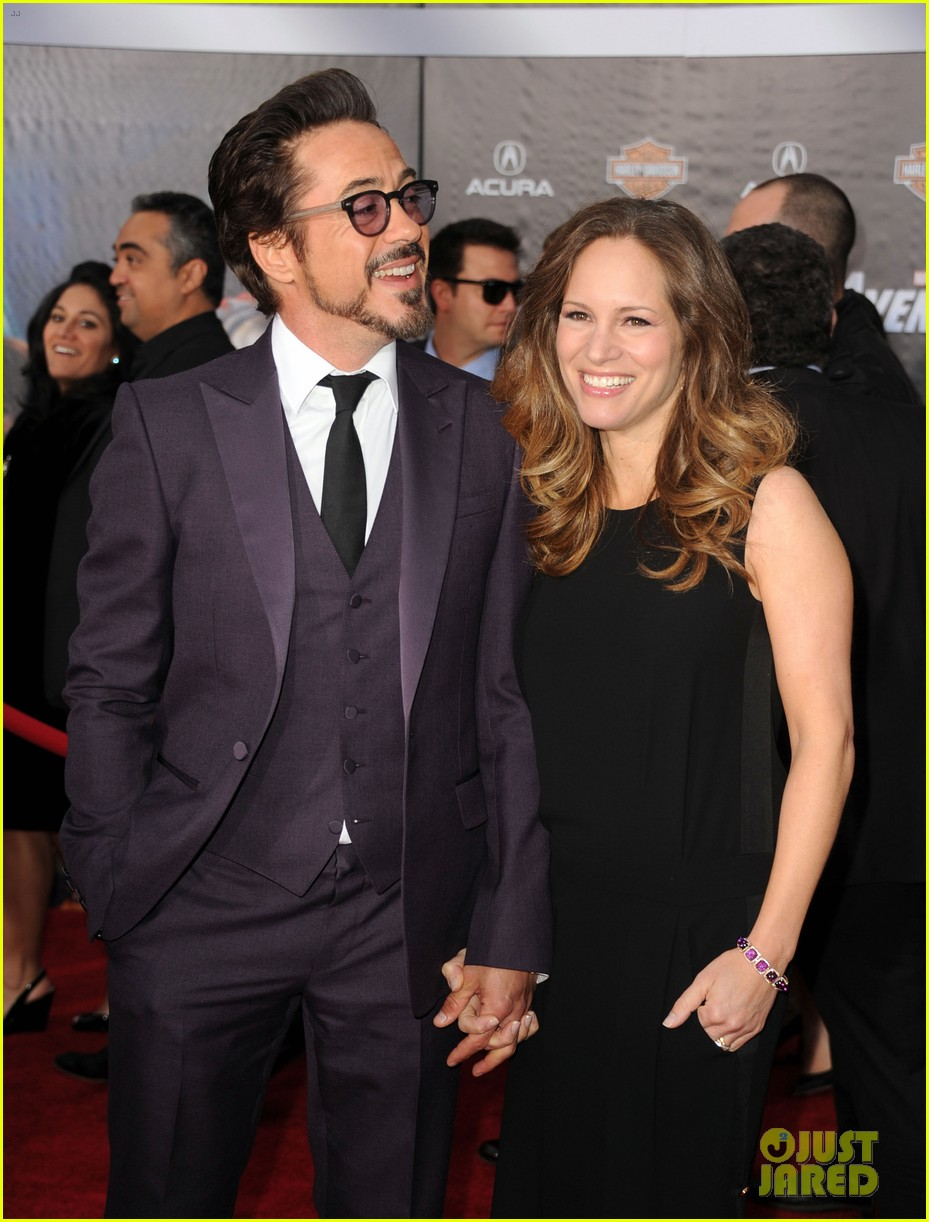 robert downey jr avengers premiere with wife susan 112647846