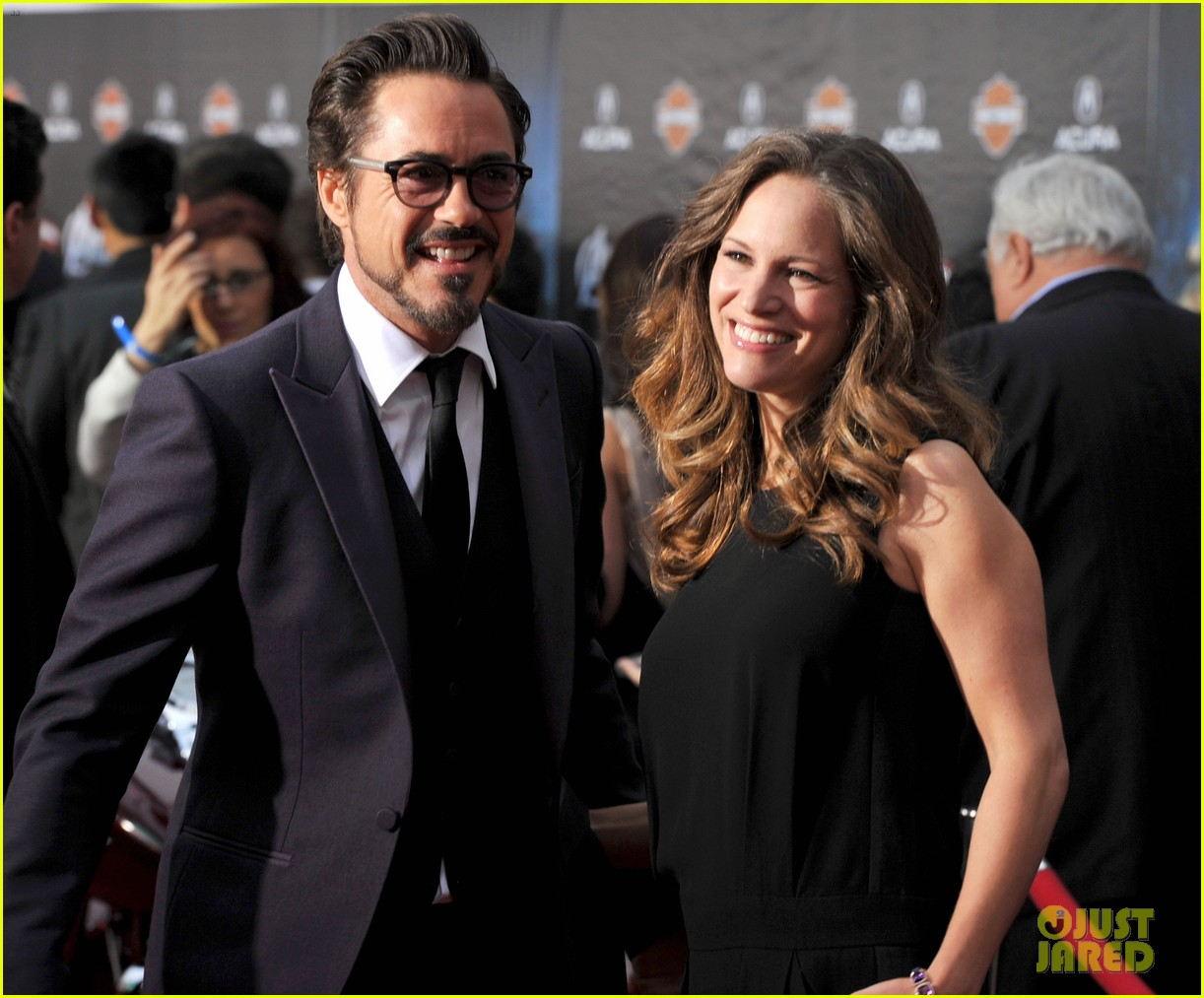 robert downey jr avengers premiere with wife susan 132647848