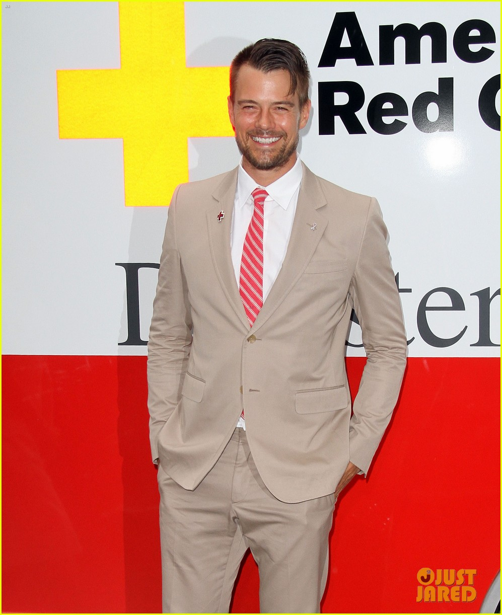 josh duhamel christa b allen red tie affair gala 032652189