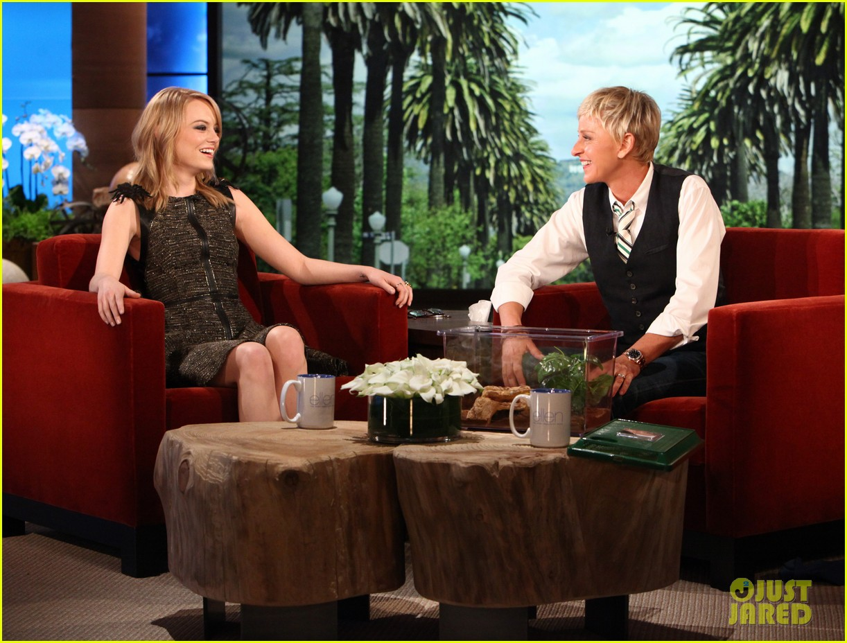 Emma stone discusses kissing her co stars on 39 ellen 39 photo 2644827 ellen degeneres emma - Ellen show videos ...
