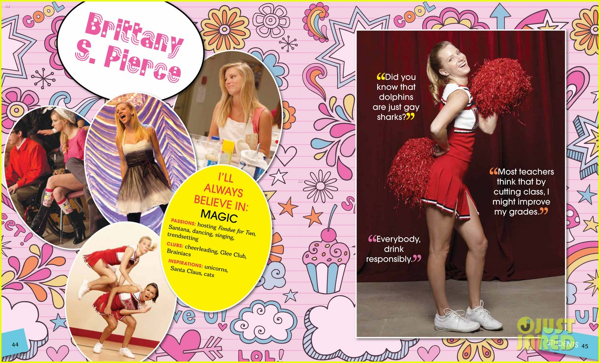 glee mckinley high yearbook exclusive inside look 032647459