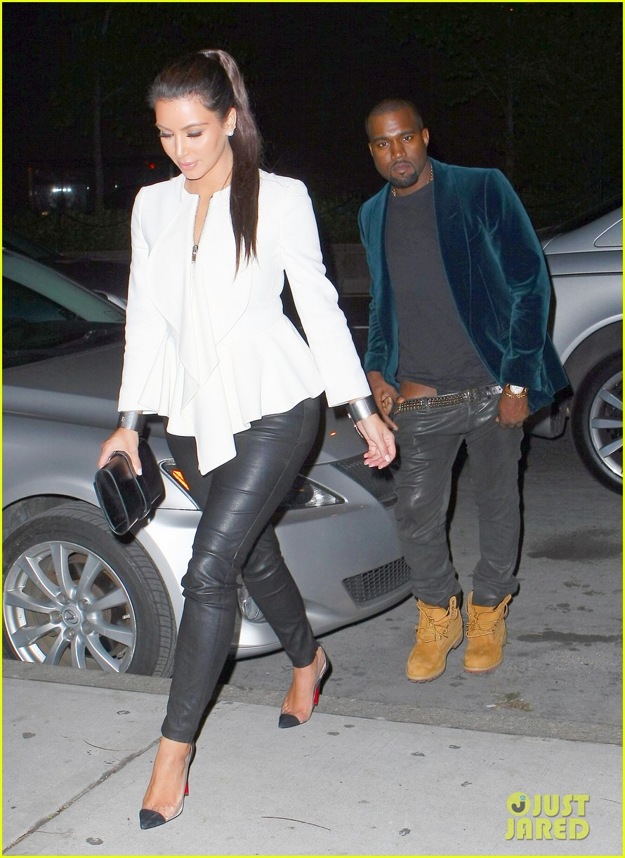 kim kardashian kanye west date night 02