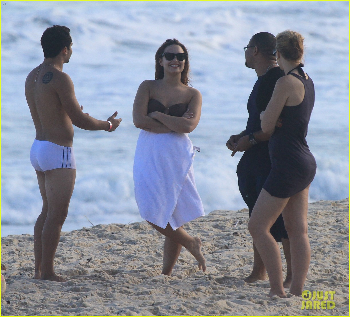 demi lovato flirts on beach 162650895
