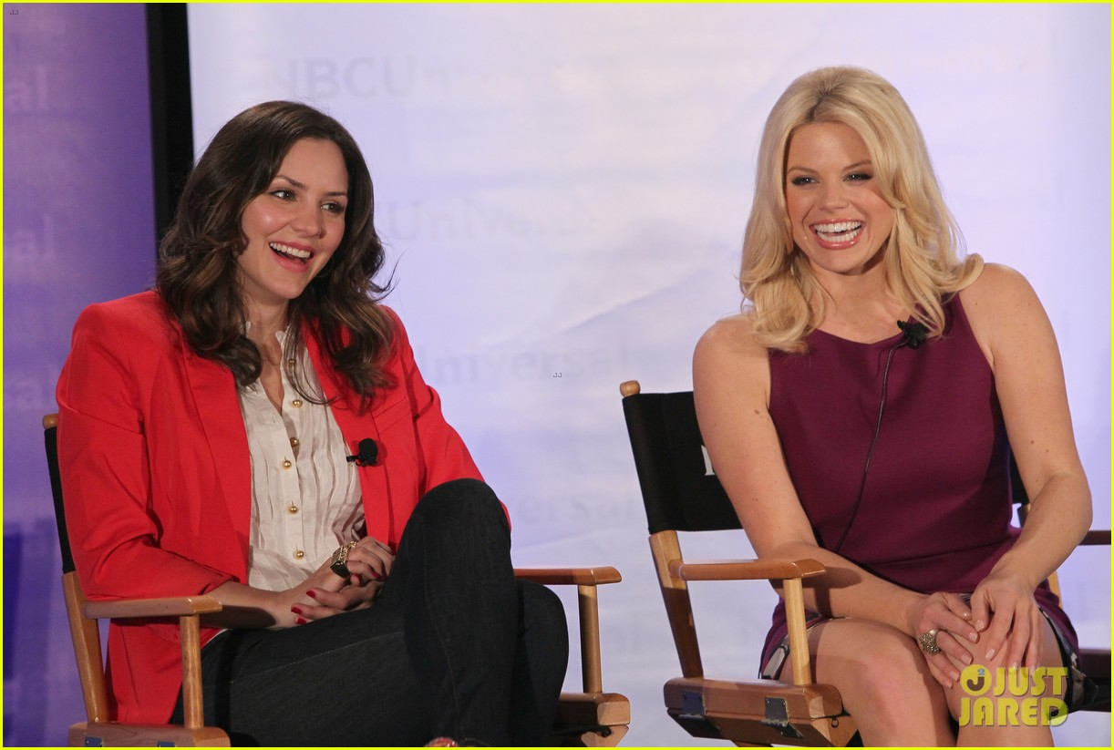 katharine mcphee megan hilty smash nbc press day 132651041
