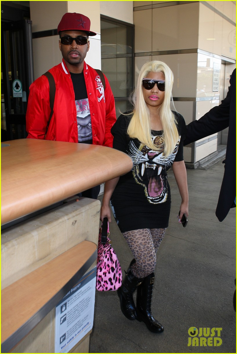 nicki minaj safaree samuels lax arrival 112646610