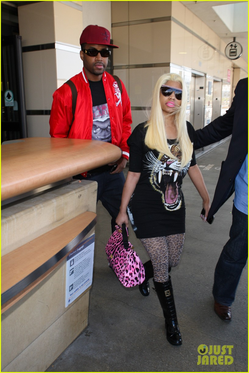 nicki minaj safaree samuels lax arrival 122646611