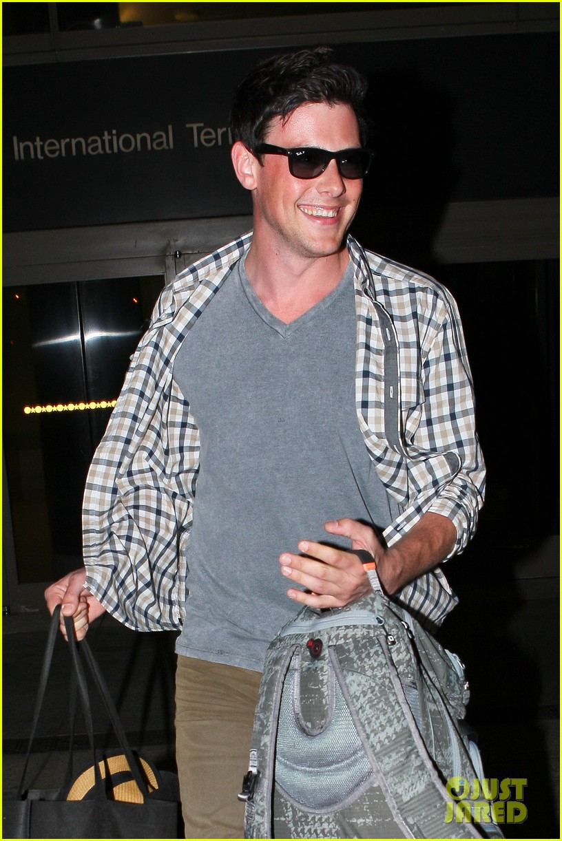 lea michele cory monteith lax 022646939