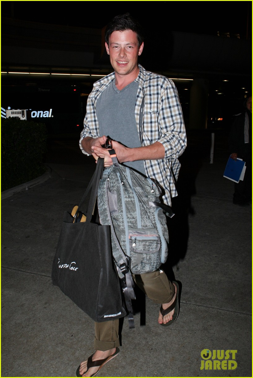 lea michele cory monteith lax 062646943