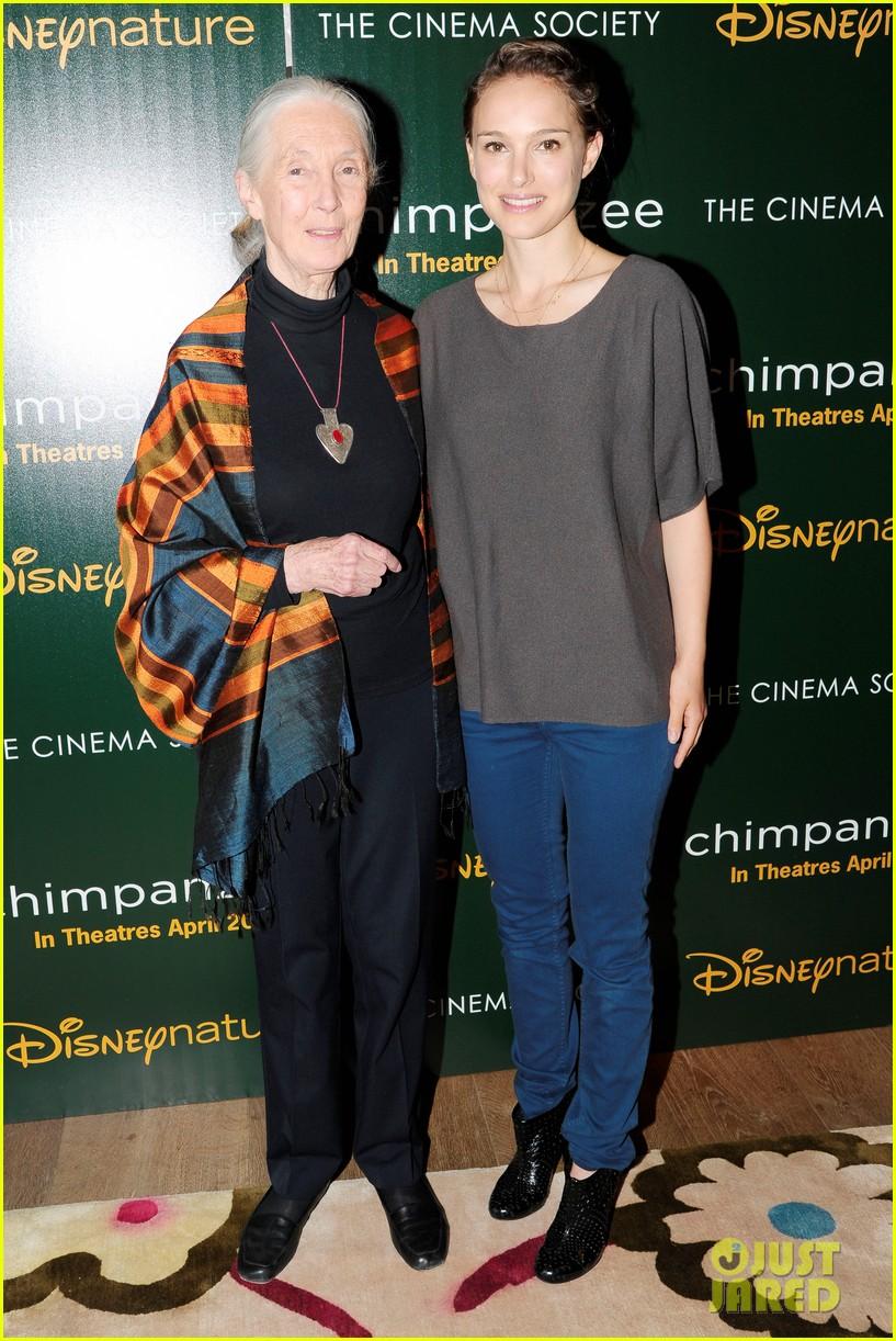 natalie portman jane goodall dave matthews chimpanzee screening 012649757