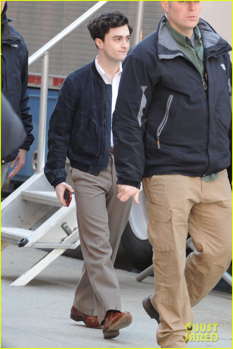 daniel radcliffe kill your darlings nyc set 06
