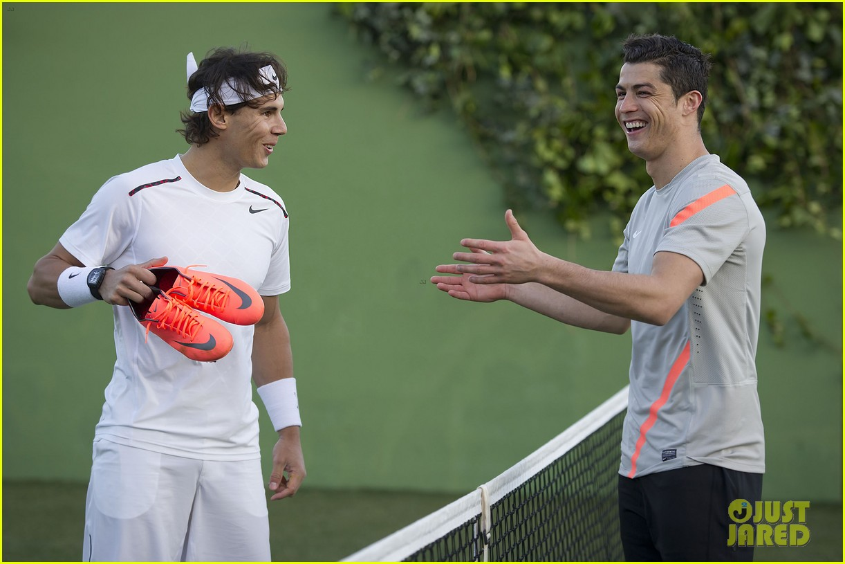 cristiano ronaldo rafael nadal battle it out for nike 052644122