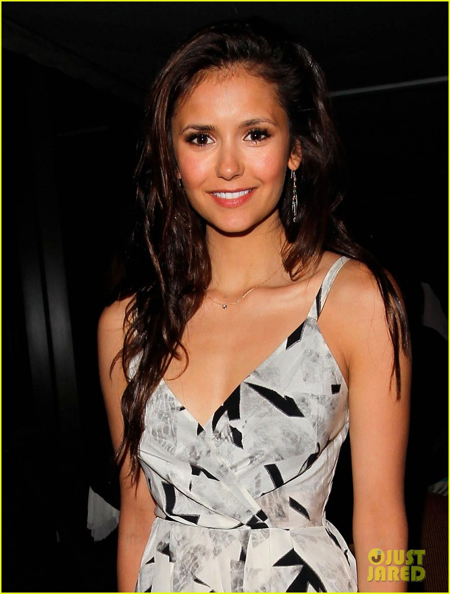 nina dobrev ian somerhalder glamour book party 042650239