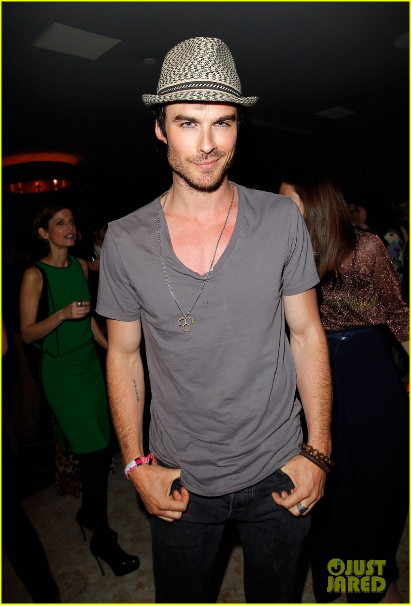 nina dobrev ian somerhalder glamour book party 052650240