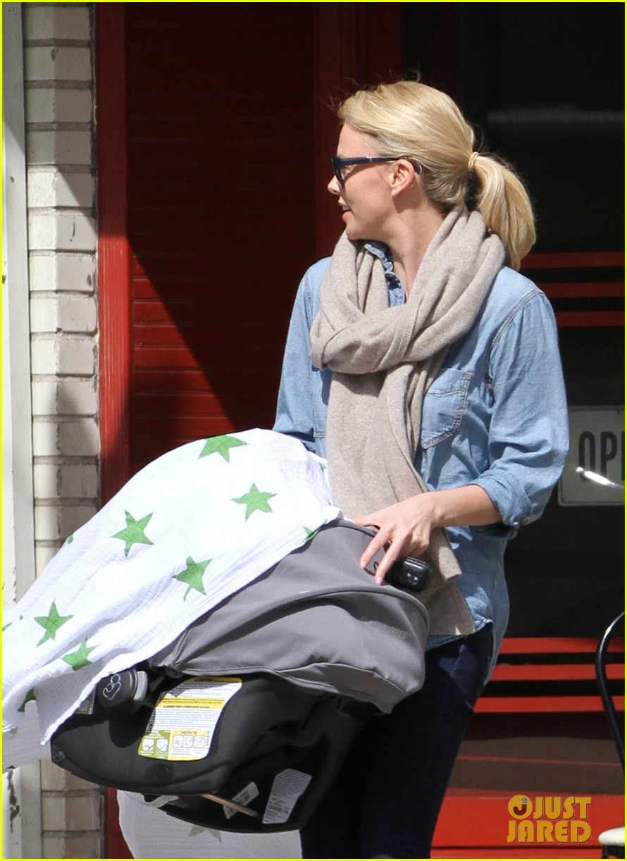 charlize theron little doms lunch with baby jackson 032649160
