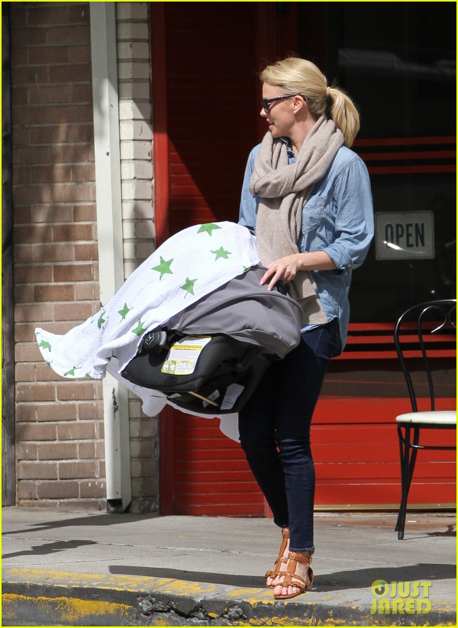 charlize theron little doms lunch with baby jackson 062649163