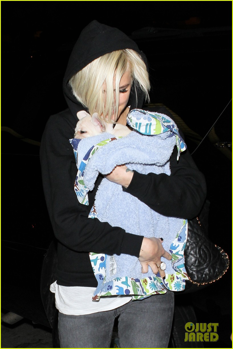 ashlee simpson vincent piazza dog walk 08
