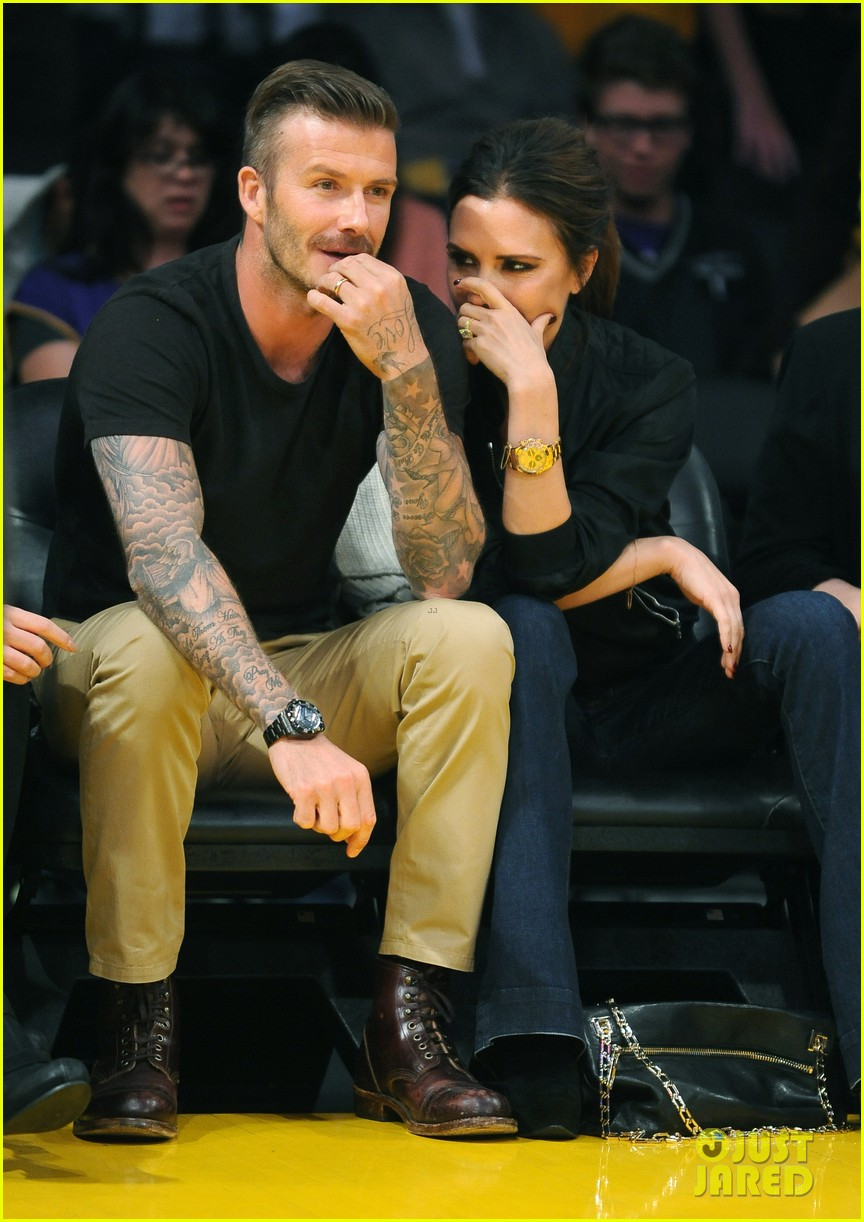david victoria beckham lakers lovers 082656419