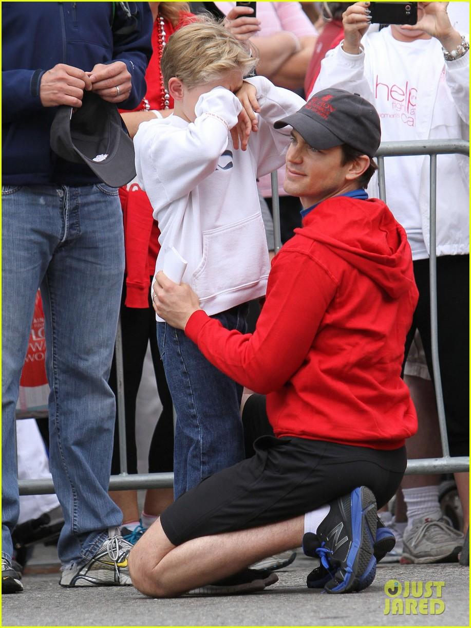 matt bomer revlon walk with simon halls son kit 11
