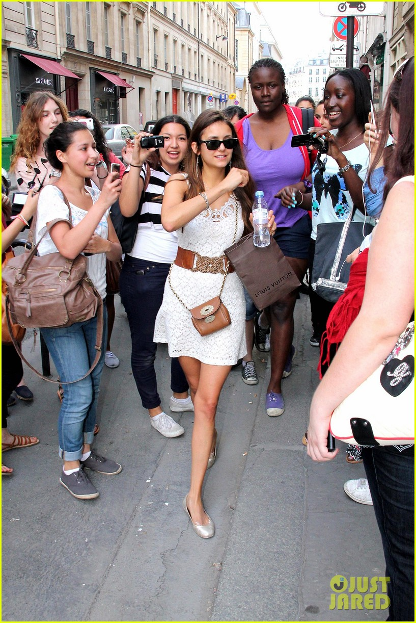 nina dobrev paris shopper 072667624
