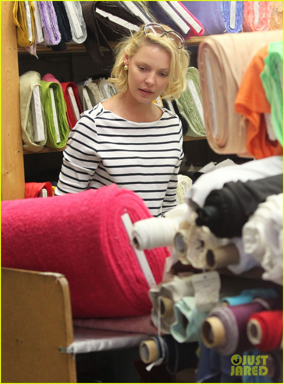 katherine heigl fabric shopping 04