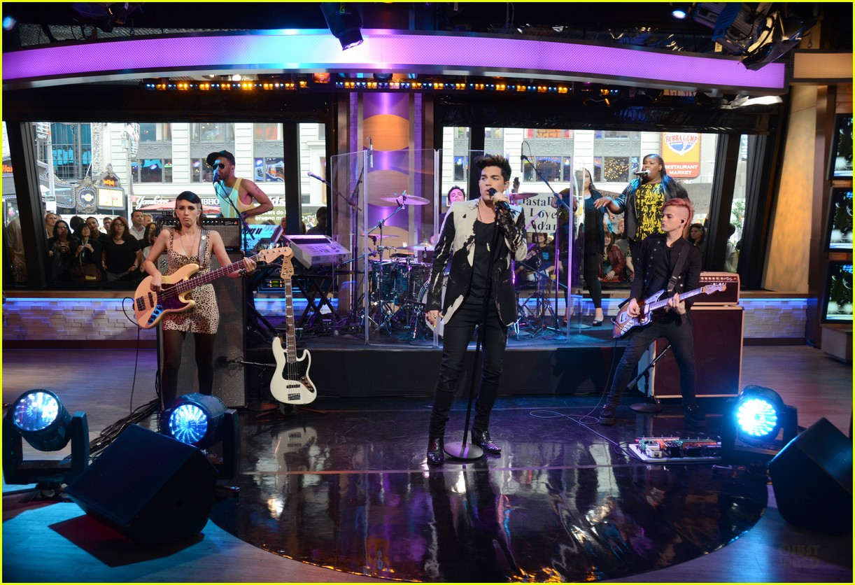 adam lambert good morning america 05