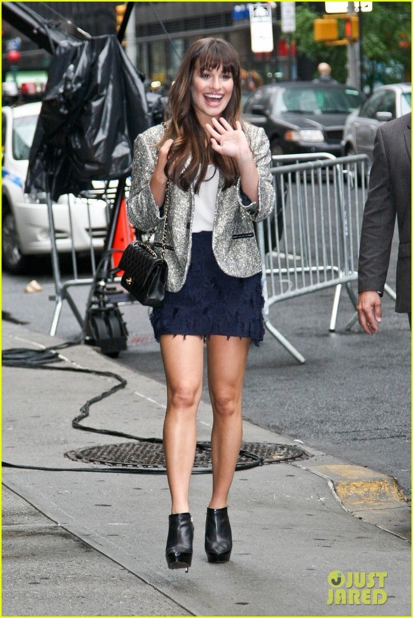 lea michele letterman guest 11