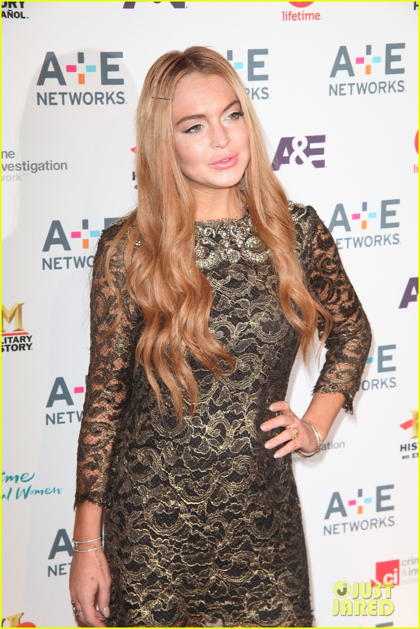 lohan a and e upfronts 112659868