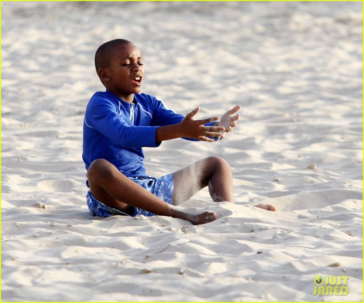 madonnas kids frolick the beach in tel aviv 032667350