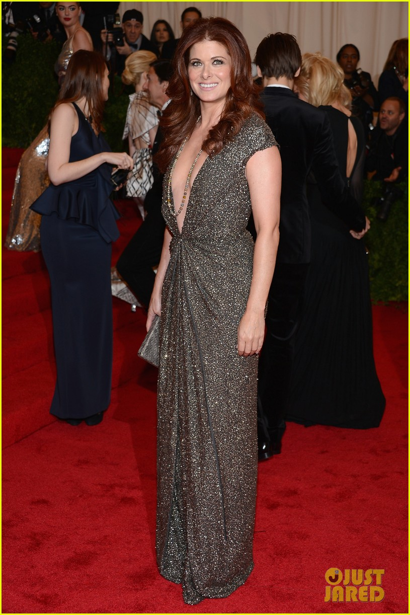 debra messing katharine mcphee met ball 2012 012658731