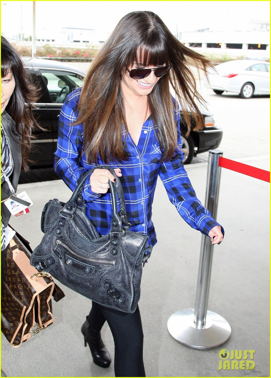 lea michele cory monteith new york bound for new york upfronts 02