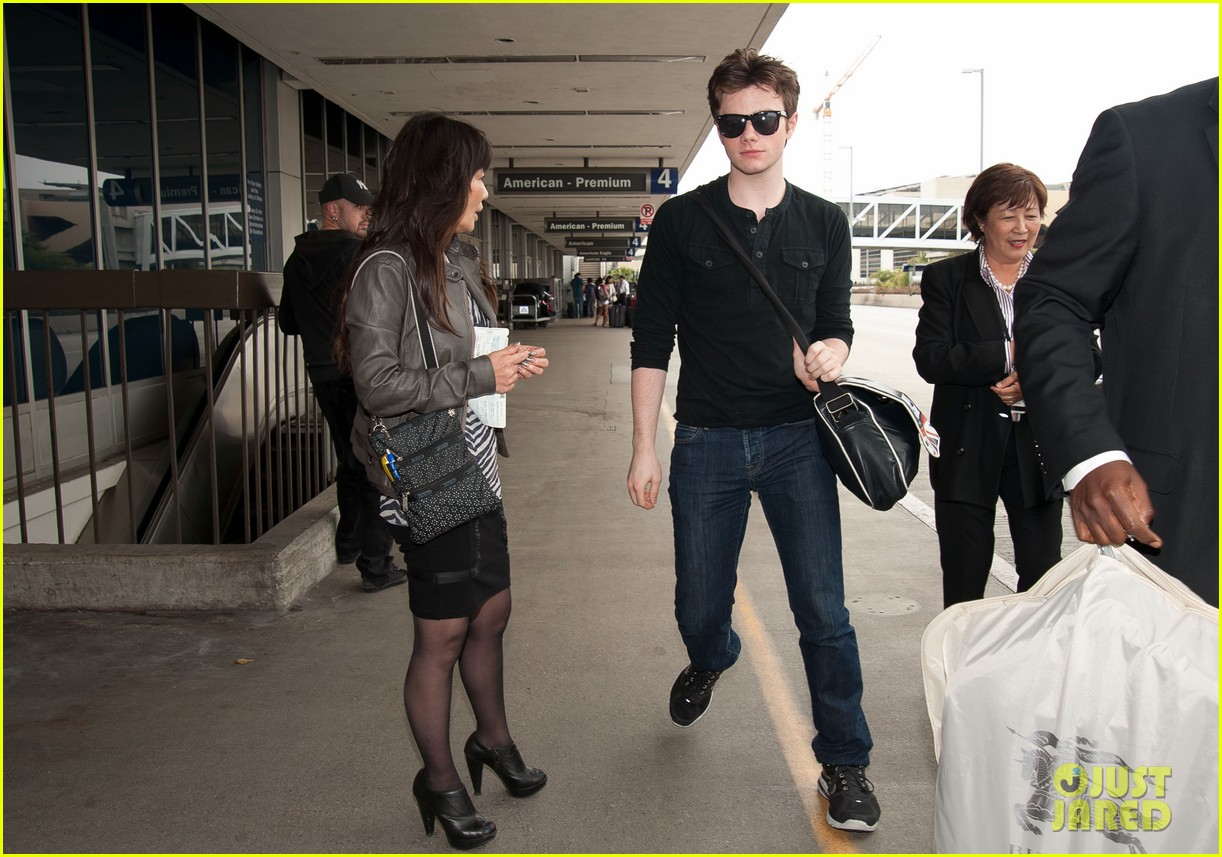 lea michele cory monteith new york bound for new york upfronts 07