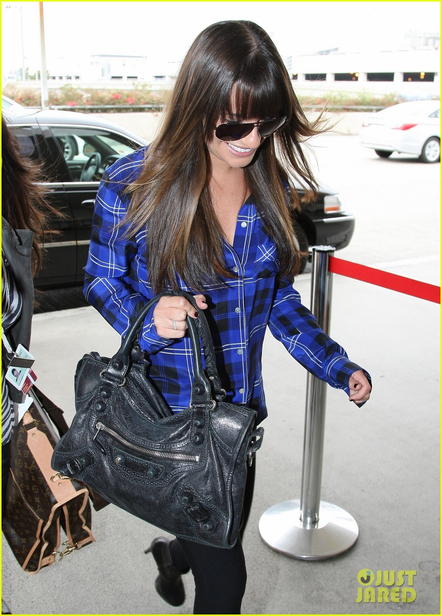 lea michele cory monteith new york bound for new york upfronts 122661251