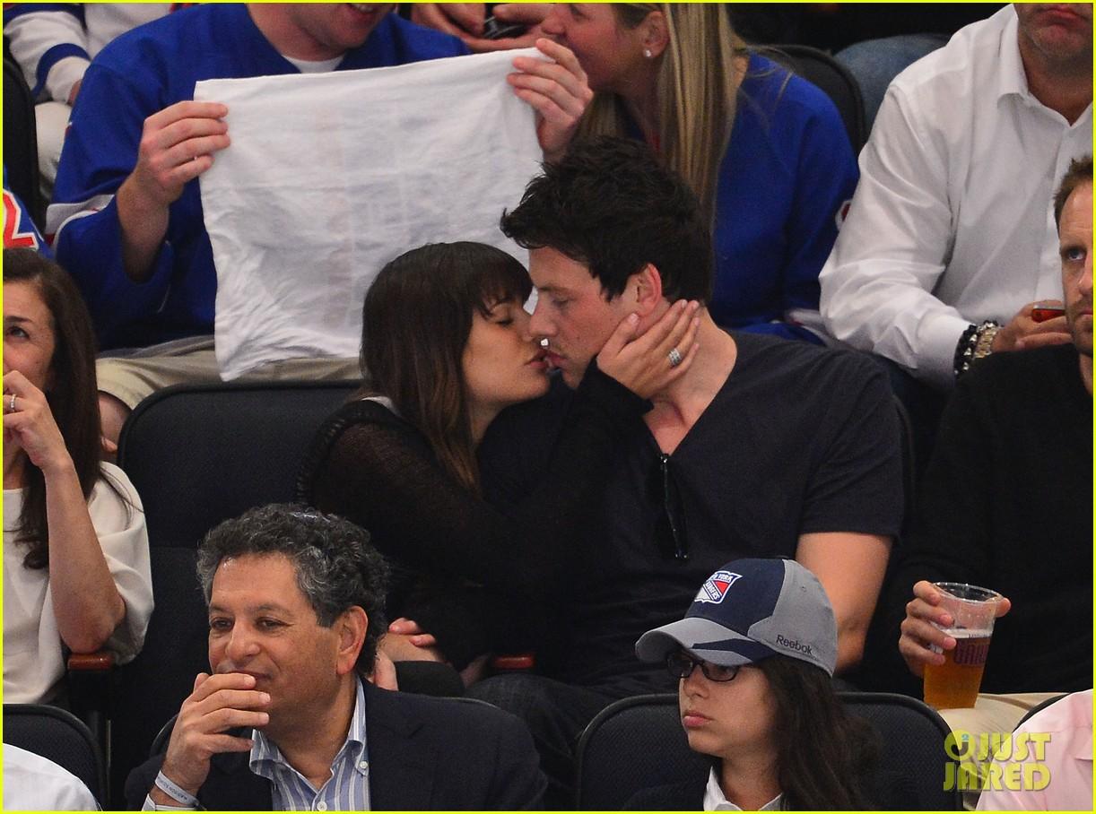Www Glee Riker Carter Kiss: Lea Michele & Cory Monteith: 'Let's Go Rangers!': Photo