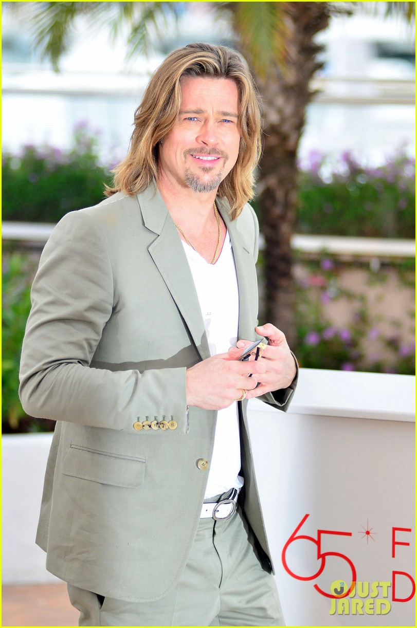 brad pitt cannes photocall 052665216