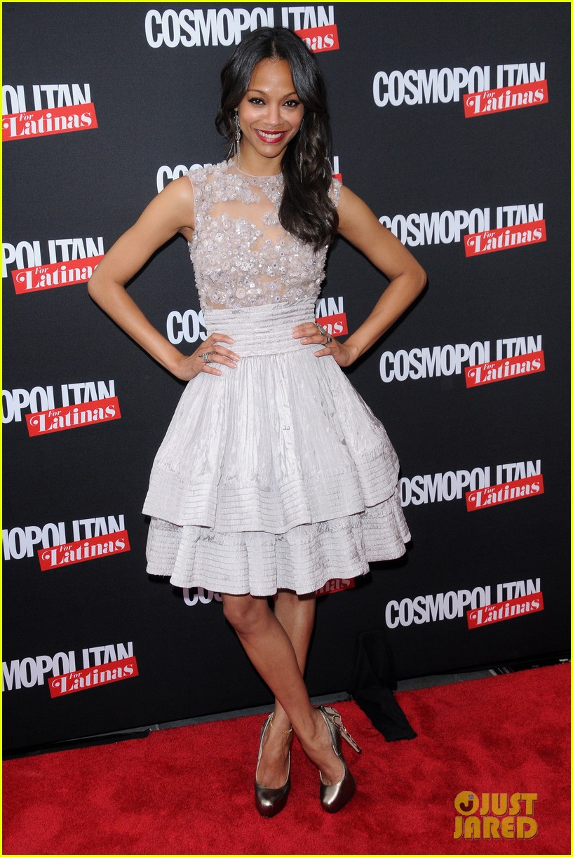 zoe saldana cosmopolitan for latinas premiere issue party 032660005