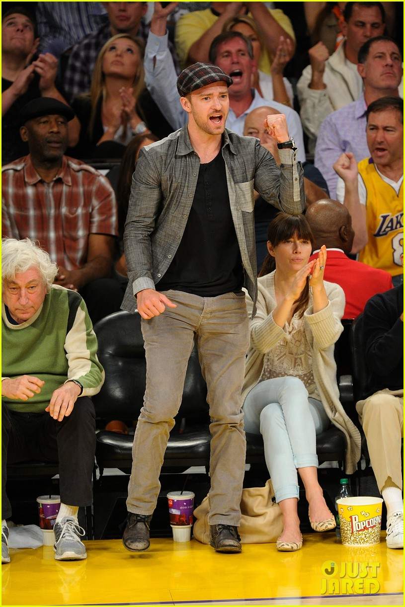 justin timberlake jessica biel lakers game 032661427