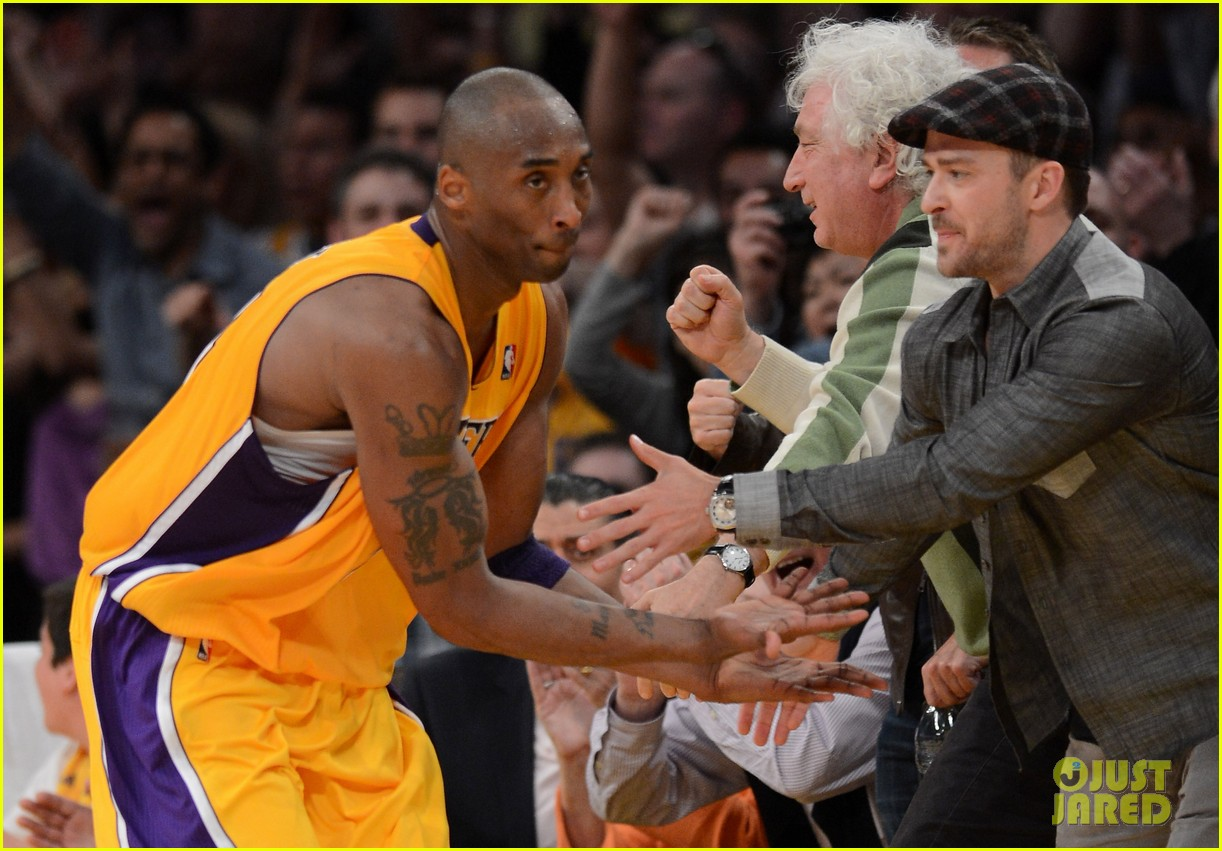 justin timberlake jessica biel lakers game 11