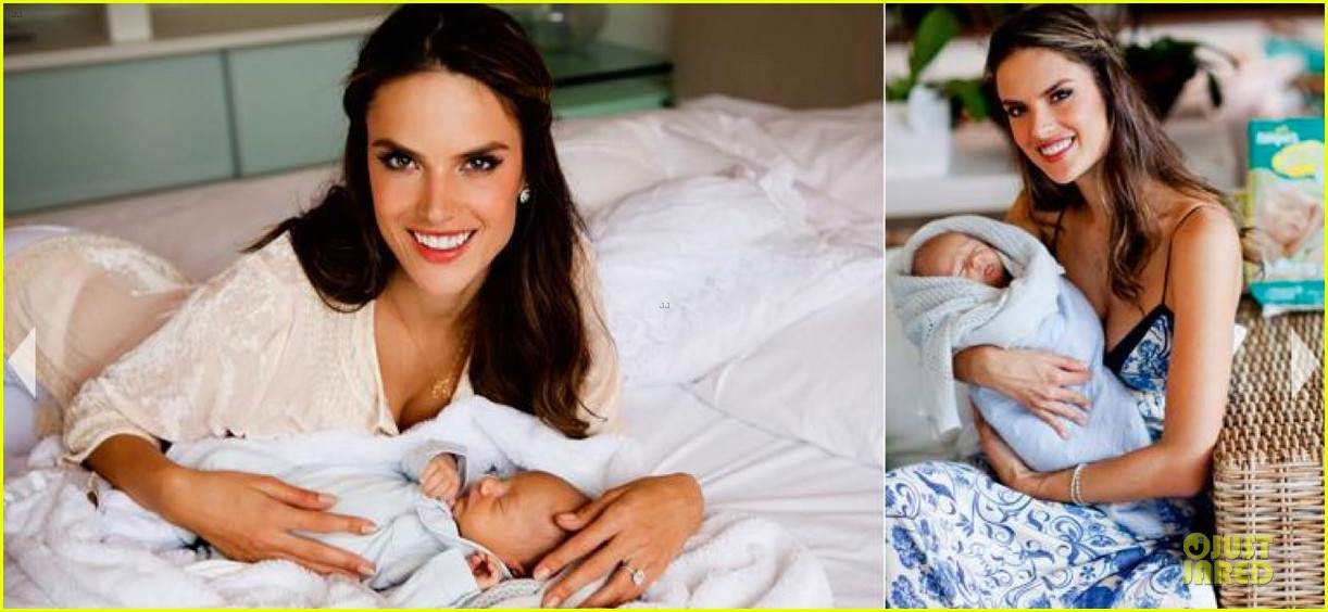 Alessandra Ambrosio Debuts Baby Noahs First Pictures Photo