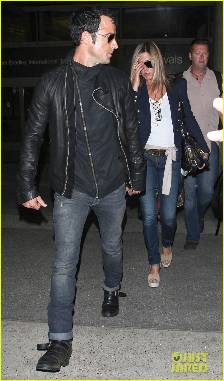 jennifer aniston justin theroux lax airport 19