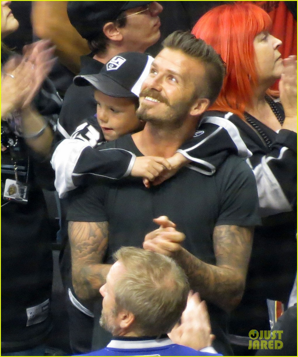 Full Sized Photo of beckham boys at the stanley cup 11 ...