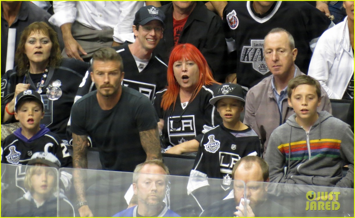 beckham boys at the stanley cup 13