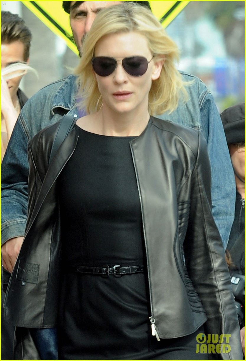 Christian Bale & Cate Blanchett: 'Knight of Cups' Set! Christian Bale