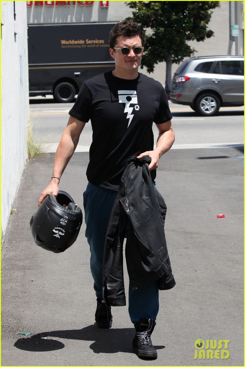 orlando bloom biker boy in beverly hills 162674222