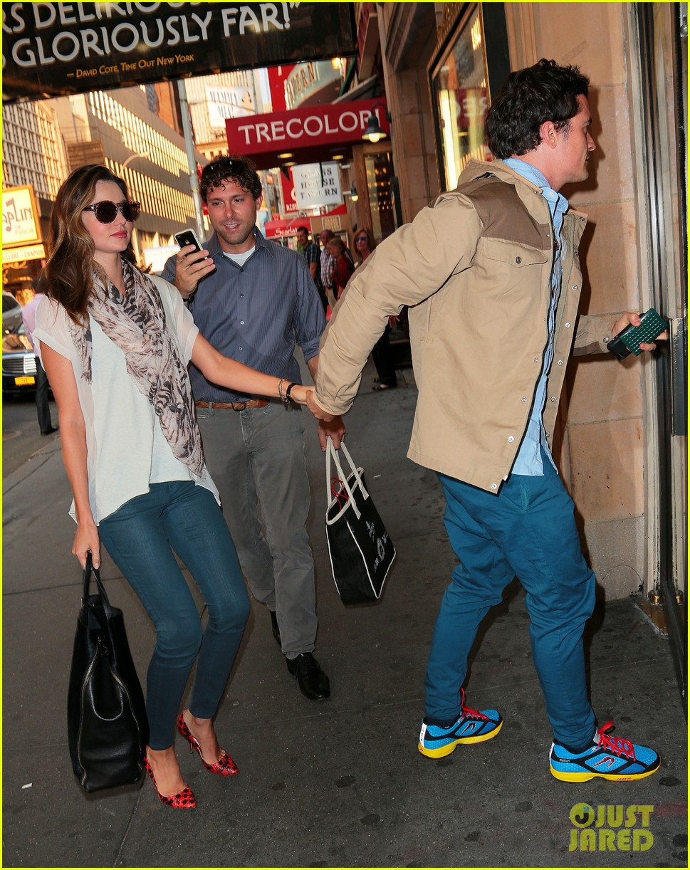 orlando bloom miranda kerr broadway date night 042680665