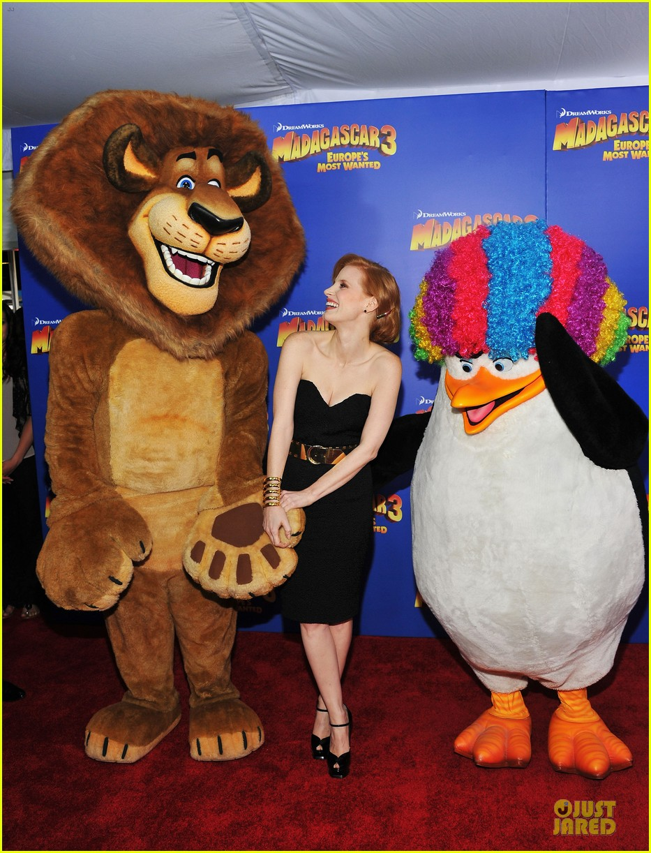 jessica chastain madagascar 3 nyc premiere 012671950