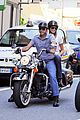 george clooney stacy keibler motorcycle lake como 01