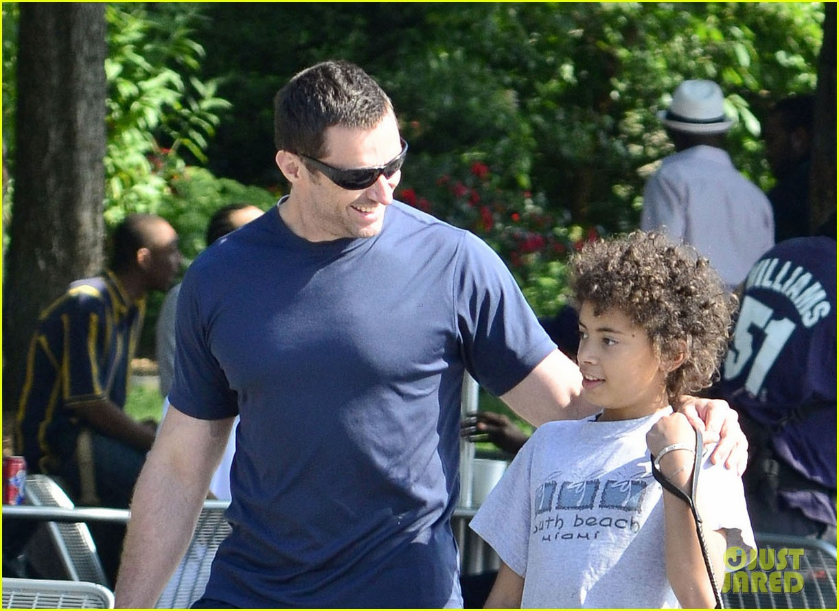 hugh jackman fathers day walk 022676338