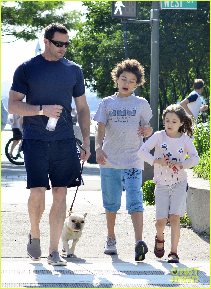 hugh jackman fathers day walk 072676343