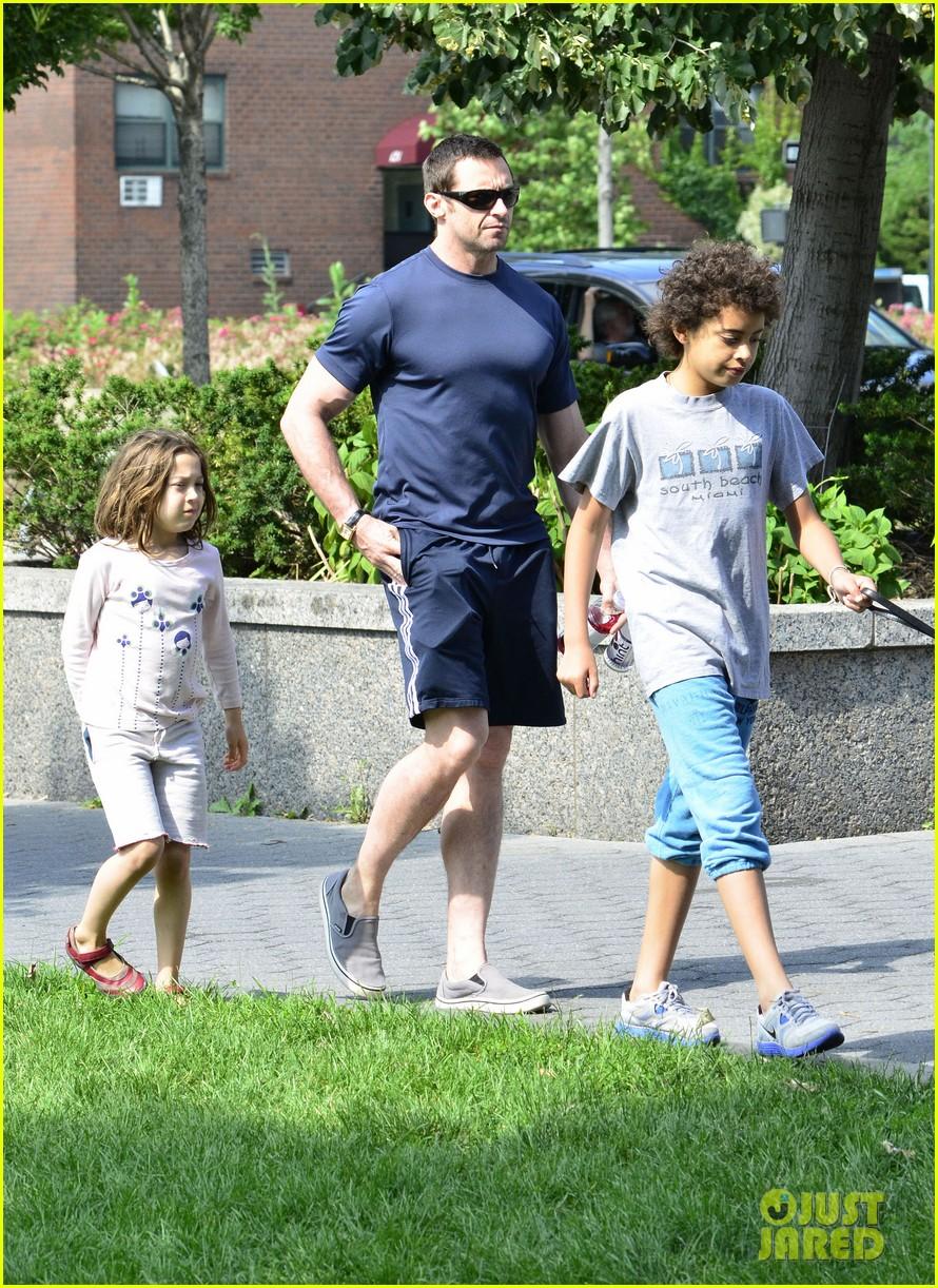 hugh jackman fathers day walk 122676348